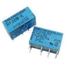 2 x RY48W-K DC48V Power Relay 8 Pin DPDT Signal Audio TAKAMISAWA FUJITSU JAPAN