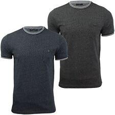 Mens girocollo jaquard T-shirt da un'anima coraggiosa