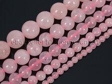 Natural Rose Quartz Gemstone Round Beads 16'' 2mm 3mm 4mm 6mm 8mm 10mm 12mm