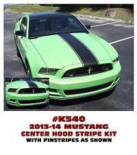 K540 2013-14 MUSTANG - CENTER HOOD DECAL KIT - THREE LINE STRIPE