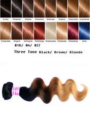Ombre Black Brown Blonde 1B/4/27 Ali Bundle Human Hair Body Wave 1 Bundle 100g