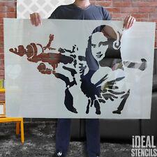 Banksy MONNA LISA Stampo XL grande decorazione della parete di Casa Pittura -