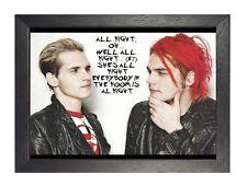 My Chemical Romance 7 MCR American Rock Band Poster Way Music Star Lyrics Photo