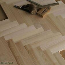 """Ash Bois 12"""" parquet Classique-Le Premier Grade-Herringbone Plancher (HD19)"""