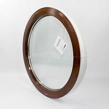 Finestre PVC cerchio/oblo VEKA Perfectline 70 FISSO colori NOCE