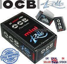 Genuine OCB Premium Mini Rolls 36mm Wide Black Smoking Cigarette Rolling Papers