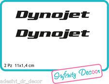 "2 Adesivi ""Dynojet"" 11x1,4 cm sponsor tecnici moto honda suzuki kawasaki ducati"
