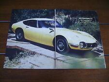 1967 TOYOTA 2000GT ***ORIGINAL  ARTICLE*** 2000 GT