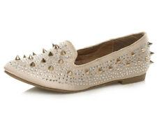 Mujeres Plano Tacón Bajo Joya Tachón Mocasines Manoletinas Zapatos Número