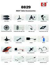 SH 8829 Z-Series 2.4GHz 4 Canali Elicottero completa gamma di ricambi parti UK
