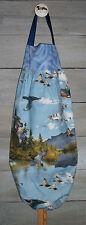 Ducks Painted Wood Duck Mallards Lake Plastic Grocery Bag Rag Sock Holder