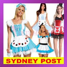 Alice in Wonderland Red Queen of Hearts Poker Maid Halloween Fancy Dress Costume