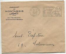 LETTRE PARQUET MONTARGIS POUR LE SOUS PREFET VALENCIENNES 1971 FLAMME
