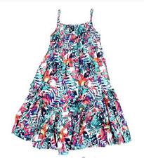 Emerson Junior Girls Tropical Shirred Dress sizes 1 2 3 4 5 6 7 Tropical Print