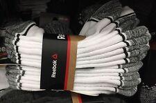 New Men's REEBOK Low Cut Sport Performance Socks White Running Crossfit