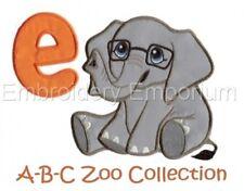 A-B-C Zoo Colección-diseños de bordado de la máquina en CD