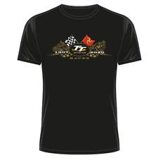 Official Isle of Man Flags 2020 - Black TT T-Shirt 20ATS1