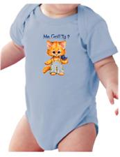 Infant Creeper Bodysuit One Piece T-shirt Me Guilty Cat Kitten k-258