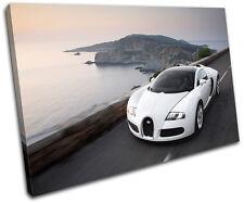 Bugatti Veyron Cars SINGLE DOEK WALL ART foto afdrukken