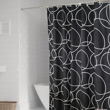 Black Waterproof Shower Curtains Polyester Fabric Bath Curtain Hooks Home Decor