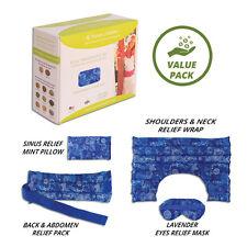 Heating Pad Microwaveable Set for Back, Neck, Shoulder, Eye Mask, & Sinus relief