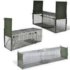 Live Animal Catch Life Trap Iron Mesh Cage Prey Hunt Rabbit 1/2 Door 3 Sizes