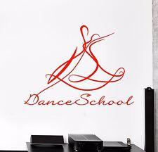Vinyl Wall Decal Ballroom Dance Dancing School Dancer Stickers (974ig)