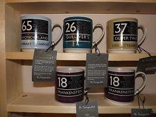 Literary Transport Coffee Mugs Travel by Book Gulliver/Frankenstein/Oliver Twist