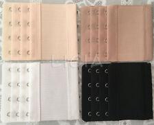 Bra Extension Strap Extender Elastic 4 Hooks 3 Rows Black White Skin Maternity