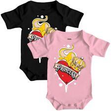 Baby Strampler kurz Kleine Princess 62 bis 92 cm Geschenk Geburt Prinzessin Herz