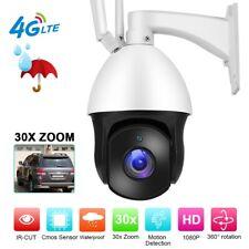 4G 30x Zoom HD 1080P IP Camera Outdoor PTZ IP66 Wireless WIFI IR Security Camera