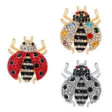 Lapel Pin Elegant Party Jewelry Rhinestone Crystal Insect Ladybug Brooch