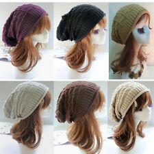 Men Women's Knit Baggy Beanie Oversize Winter Hat Ski Slouchy Chic Cap Skull New