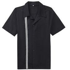 Vintage Retro Bowling Shirts Plus Size Shirts Rockabilly Clothing For Men