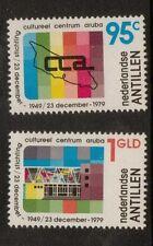 NETHERLANDS ANTILLES SG712/3 1979 30th ANNIV OF ARUBA CULTURAL CENTER MNH