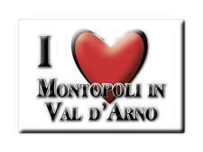 CALAMITA TOSCANA FRIDGE MAGNETE SOUVENIR I LOVE MONTOPOLI IN VAL D'ARNO (PI)