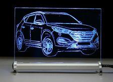 LED Leuchtschild Gravur mit Hyundai Tucson TL SUV Geburtstagsgeschenk