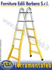 SCALA TELESCOPICA  MULTIUSO JOLLY ACCIAIO/ALLUMINIO 5+5 GRADINI 4,75 H