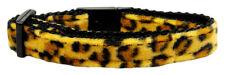 Designer Cat Jungle Print Leopard or Zebra Safety Breakaway Kitty Collar Bell