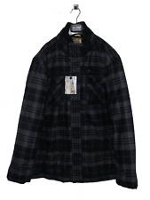 Men's Winter Outdoor Coat Black Grey Check Big Size XXXL Jacket Thick Warm Coats