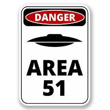 2 x 10cm Danger Sign Area 51 Vinyl Sticker Laptop Car UFO Nevada USA #6424