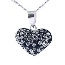 NEW 925 Silver Austrian Crystal Heart Pendant & Chain