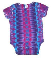 Baby Tie Dye Purple Dna Infant Creeper hippie Nb 6 12 18 24 month custom art