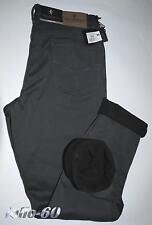 Pantalone uomo termico 46 48 50 52 54 56 58 60 jeans interno pile strech grigio