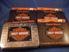 WHOLESALE LOT 4 HARLEY MOTORCYCLE TIN Box Playing POKER CARDS CASINO Biker Vegas