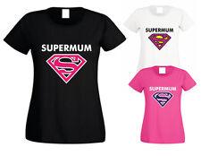 SUPERMUM MUMMY MOM GRAN GRANDMA T-SHIRT RETRO SHIRT TOP MOTHERS DAY ANY TEXT