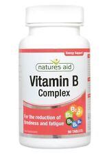 Natures Aid Vitamina del complejo B 90 comprimidos 1 paquetes de 2 3 6 12