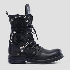 Replay Damenschuhe Schuhe Stiefel Stiefelette Boots Leder Black Patches Nieten