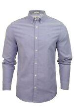 Original Penguin Birdseye Blue Topaz Heritage Slim Long Sleeve Shirt Office M