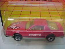 1982 MATCHBOX SUPERFAST #12 RED PONTIAC FIREBIRD NEW MOC